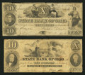 Obsoletes By State:Ohio, Columbus, OH- The State Bank of Ohio, Franklin Branch Counterfeit$10; $10 1850-54 C496 (SENC); G500 Wolka 0893-31; -36. ... (Total:2 notes)