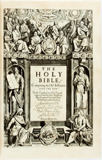 [Bible]. LIMITED. The Original King James Bible in Exact Facsimile. Cleveland: World Publishing, [n.d.]. Edition limi