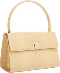 "Lambertson Truex Beige Lizard Handbag Excellent Condition 9"" Width x 6.5"" Height x 5"" Depth</"