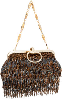 ea77feb7fdfa Gucci by Tom Ford Limited Edition Brown Beaded Fringe Evening Bag Excellent  Condition 9