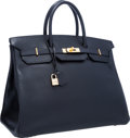 """Luxury Accessories:Bags, Hermes 40cm Black Ardennes Leather Birkin Bag with Gold Hardware.Very Good to Excellent Condition. 15.5"""" Width x 11""""..."""