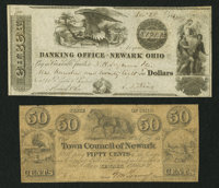 Newark, OH- The Town Council of Newark 50¢ July 1, 1841 Wolka 1949-04 Newark, OH- S.D. King at the Banking Offi