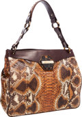 "Luxury Accessories:Bags, Oscar de la Renta Painted Python Shoulder Bag with TortoiseHardware. Very Good Condition . 14"" Width x 12"" Height x6..."