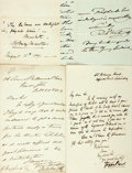 Autographs:Artists, British and Canadian Artists. Group of Autograph and Typed Letters Signed. Includes Stephen Pearce, Bell Smith, Henry Stacy ...