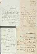 Autographs:Artists, Architects and Engineers. Group of Autograph and Typed LettersSigned. Includes Philip Hardwick, R. Norman Shaw, Henry Sedle...