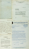 Autographs:Authors, Publishers, Editors and Authors. Group of Autograph and Typed Letters Signed. Includes Sidney Lee, William Moffat, Paul Raym...