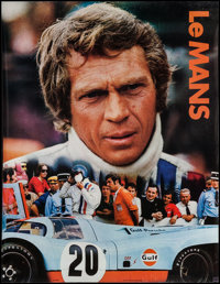 """Le Mans (Cinema Center, 1971). Gulf Promotional Poster (17"""" X 22""""). Sports"""