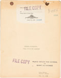 "Movie/TV Memorabilia:Documents, A Lon Chaney-Related 'Cutting Continuity' Script from ""Tell It ToThe Marines.""..."