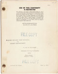 "Movie/TV Memorabilia:Documents, A 'Dialogue Cutting Continuity' Script from ""A Day at theRaces.""..."