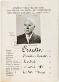 Movie/TV Memorabilia:Documents, A Charlie Chaplin International Driver's License, 1953.. ...
