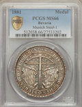German States:Bavaria, German States: Bavaria Silver Shooting Medal 1881 MS66 PCGS,...