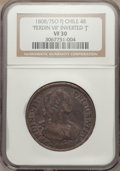 Chile, Chile: Ferdinand VII 4 Reales 1808/7 So-FJ VF30 NGC,...