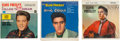 Music Memorabilia:Recordings, Elvis Presley Sealed EP Group of 3 (RCA 1956-62).... (Total: 3Items)