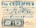 Explorers:Space Exploration, Mercury-Atlas 6 (Friendship 7) Flown One Dollar Bill Signedby John Glenn, Scott Carpenter, and Numerous Others, w... (Total: 2)