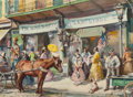 Works on Paper, JAMES MILTON SESSIONS (American, 1882-1964). F.W. Woolworth Storefront. Watercolor on paper. 20-1/2 x 27-3/4 inches (52....