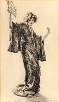 Fine Art - Work on Paper:Drawing, CHARLES DANA GIBSON (American, 1867-1944). Japonette, circa1912. Ink on paper. 20-5/8 x 12-1/4 inches (52.4 x 31.1 cm) ...