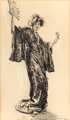 CHARLES DANA GIBSON (American, 1867-1944) Japonette, circa 1912 Ink on paper 20-5/8 x 12-1/4 inches (52.4 x 31.1 cm)