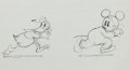 Animation Art:Production Drawing, Mickey's Service Station Mickey Mouse and Donald DuckProduction Drawing Animation Art (Walt Disney, 1935)....