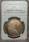 Mexico, Mexico: Charles III 8 Reales 1788 Mo-FM MS62 NGC,...