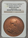 Mexico, Mexico: Charles IV bronze Proclamation Medal 1789 MS64 Red andBrown NGC,...