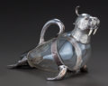 Silver Holloware, Continental:Holloware, AN ITALIAN SILVER-PLATED, GLASS AND BONE FIGURAL DECANTER, MikaSilver , Italy, 20th century. Marks: MIKA, (effaced mark...