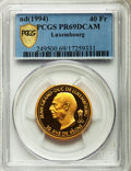 Luxembourg, Luxembourg: Jean Proof gold 40 Francs ND (1994) PR69 DCAM PCGS,...