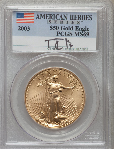 PCGS MS-69 2003 $5 Gold American Eagle Coin