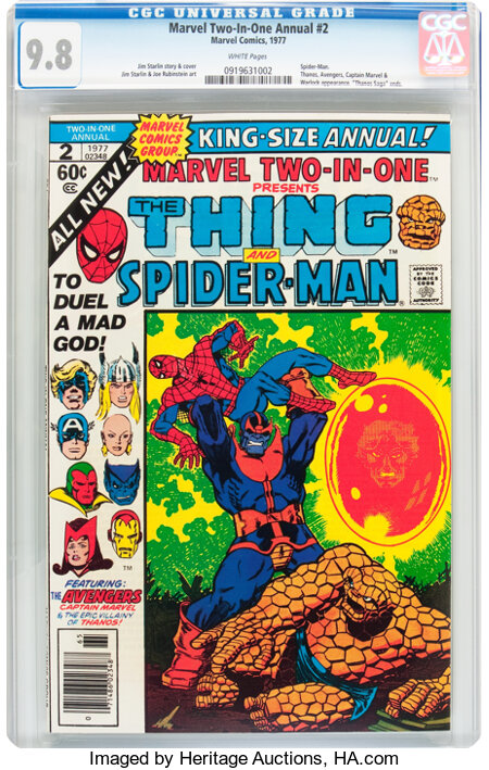 Marvel Two-In-One Annual #2 (Marvel, 1977) CGC NM/MT 9.8 White pages....