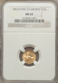 Mexico, Mexico: Republic gold 1/2 Escudo 1863/57 Mo-CH MS62 NGC,...