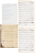 Music Memorabilia:Sheet Music, Elvis Presley Related - Scotty Moore Sheet Music and Lyrics Group... (Total: 3 Items)