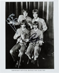 Music Memorabilia:Autographs and Signed Items, Beatles - Paul McCartney and Ringo Starr Signed Fan Club Photo....
