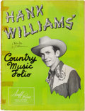 Music Memorabilia:Autographs and Signed Items, Hank Williams Signed Country Music Folio Book (Acuff-Rose,circa 1949)....