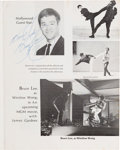 Movie/TV Memorabilia:Autographs and Signed Items, A Bruce Lee Signed Karate Program, 1969....