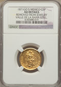 Mexico, Mexico: Republic gold 5 Pesos 1871 Go-S AU Details (Removed fromJewelry) NGC,...