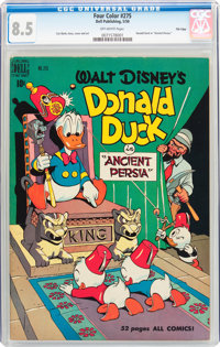 Four Color #275 Donald Duck - File Copy (Dell, 1950) CGC VF+ 8.5 Off-white pages