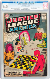 Justice League of America #1 (DC, 1960) CGC FN 6.0 Cream to off-white pages