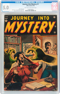 Journey Into Mystery #1 (Marvel, 1952) CGC VG/FN 5.0 Light tan to off-white pages