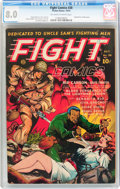 Golden Age (1938-1955):War, Fight Comics #28 (Fiction House, 1943) CGC VF 8.0 Off-white towhite pages....