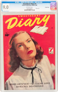 Golden Age (1938-1955):Romance, Sweetheart Diary #1 Crowley Copy pedigree (Fawcett Publications,1949) CGC VF/NM 9.0 Off-white pages....