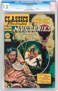 Golden Age (1938-1955):Classics Illustrated, Classics Illustrated #40 Mysteries - First edition (Gilberton,1947) CGC VF- 7.5 Off-white pages....