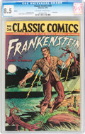 Golden Age (1938-1955):Horror, Classic Comics #26 Frankenstein HRN 30 (Gilberton, 1946) CGC VF+8.5 Off-white to white pages....