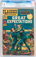 Golden Age (1938-1955):Classics Illustrated, Classics Illustrated #43 Great Expectations - First edition(Gilberton, 1947) CGC VF- 7.5 Off-white to white pages....