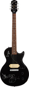 Musical Instruments:Electric Guitars, Levon Helm and Joe Satriani Signed Guitar....