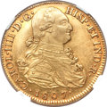 Colombia, Colombia: Charles IV gold 8 Escudos 1807 P-JF MS62 NGC,...
