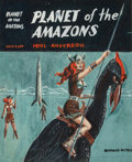 Pulp, Pulp-like, Digests, and Paperback Art, EDMUND (EMSH) EMSHWILLER (American, 1925-1990). Planet of theAmazons, preliminary paperback cover. Gouache on board wit...