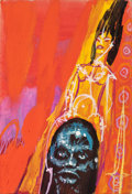 Pulp, Pulp-like, Digests, and Paperback Art, EDMUND (EMSH) EMSHWILLER (American, 1925-1990). The End ofEternity, preliminary paperback cover, circa 1963. Gouachean...