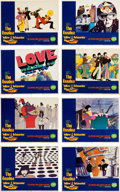 Music Memorabilia:Posters, Beatles Yellow Submarine Set of Eight Original Lobby Cards(United Artists, 1968)....