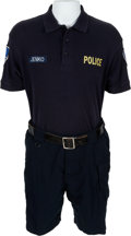 "Movie/TV Memorabilia:Costumes, A Channing Tatum Police Bike Uniform from ""21 Jump Street.""..."