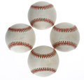 Autographs:Baseballs, Nolan Ryan Single Signed Baseballs Lot of 4. Major League'sall-time strikeout leader has provided a quartet of single-sign...(Total: 4 Items)