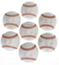 Autographs:Baseballs, Nolan Ryan Single Signed Baseballs Lot of 7. Here we offer a uniquelot with seven single-signed orbs from HOF pitcher, Nol... (Total:7 Items)